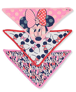 Disney Minnie Mouse Baby Girls' 3-Pack Bandana Bibs - CookiesKids.com