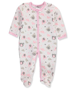 Little Beginnings Baby Girls' Footed Coverall - CookiesKids.com
