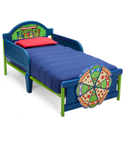 "Teenage Mutant Ninja Turtles ""Dreaming of Pizza"" Toddler Bed - CookiesKids.com"