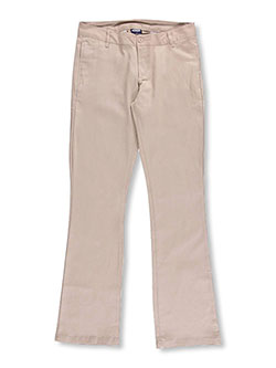 Denice Stretch Big Girls' Junior Uniform Pants (Junior Sizes 0 - 15) - CookiesKids.com