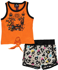 "Dollhouse Baby Girls' ""Tiger & Leopard"" 2-Piece Outfit - CookiesKids.com"