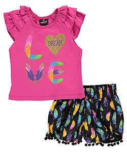 "Dollhouse Little Girls' Toddler ""Featherweight"" 2-Piece Outfit (Sizes 2T – 4T) - CookiesKids.com"