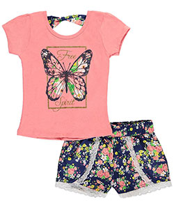"Dollhouse Big Girls' ""Butterfly Spirit"" 2-Piece Outfit (Sizes 7 – 16) - CookiesKids.com"