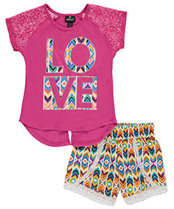 "Dollhouse Big Girls' ""Surreal Love"" 2-Piece Outfit (Sizes 7 – 16) - CookiesKids.com"