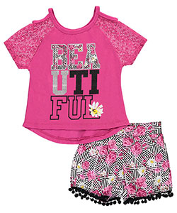 "Dollhouse Big Girls' ""Beautiful"" 2-Piece Outfit (Sizes 7 – 16) - CookiesKids.com"
