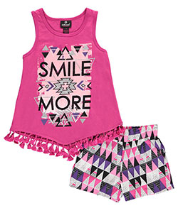 "Dollhouse Big Girls' ""Smile More"" 2-Piece Outfit (Sizes 7 – 16) - CookiesKids.com"