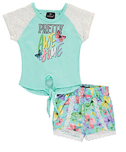 "Dollhouse Baby Girls' ""Pretty Awesome"" 2-Piece Outfit - CookiesKids.com"