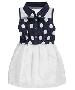 "Dollhouse Baby Girls' ""Soft Mesh Yoke"" Dress - CookiesKids.com"