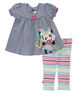 "Minnie Mouse Baby Girls' ""Geometric Bows"" 2-Piece Outfit - CookiesKids.com"