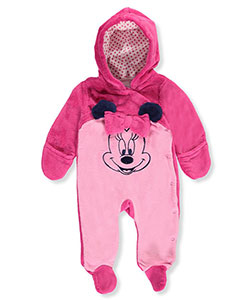 Minnie Mouse Baby Girls' Plush Footed Coverall - CookiesKids.com