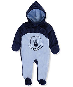 Mickey Mouse Baby Boys' Plush Pram Suit - CookiesKids.com