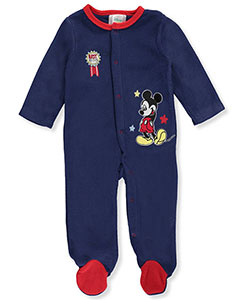 Mickey Mouse Baby Boys' Fleece Footed Coverall - CookiesKids.com