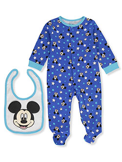 Mickey Mouse Baby Boys' Coverall with Bib - CookiesKids.com