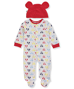 Mickey Mouse Baby Boys' Coverall with Cap - CookiesKids.com