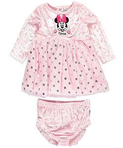 Minnie Mouse Baby Girls' Dress with Diaper Cover - CookiesKids.com