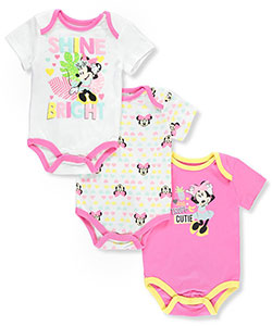 Disney Minnie Mouse Baby Girls' 3-Pack Bodysuits - CookiesKids.com