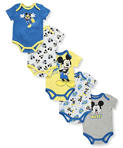 Disney Mickey Mouse Baby Boys' 5-Pack Bodysuits - CookiesKids.com
