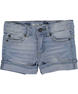"DKNY Little Girls' ""Angled Seam Rolled"" Short Shorts (Sizes 4 – 6X) - CookiesKids.com"