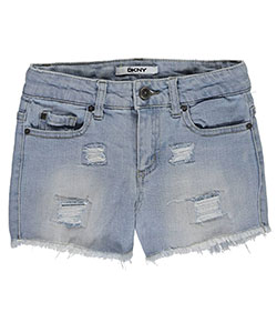 "DKNY Big Girls' ""Angled Seam – Frayed"" Short Shorts (Sizes 7 – 16) - CookiesKids.com"