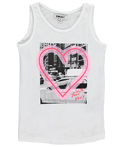 "DKNY Little Girls' ""With Love"" Tank Top (Sizes 4 – 6X) - CookiesKids.com"