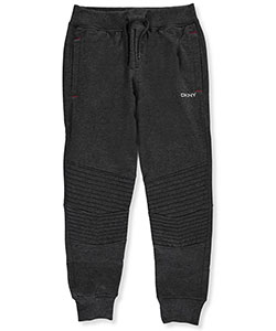 "DKNY Big Boys' ""Ribbed Panel"" Joggers (Sizes 8 – 20) - CookiesKids.com"