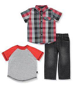 "DKNY Baby Boys' ""Pocket Outline"" 3-Piece Outfit - CookiesKids.com"