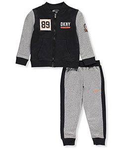 DKNY Little Boys' 2-Piece Fleece Sweatsuit (Sizes 4 – 7) - CookiesKids.com
