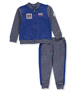 DKNY Little Boys' Toddler 2-Piece Fleece Sweatsuit (Sizes 2T – 4T) - CookiesKids.com