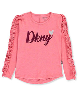 DKNY Little Girls' L/S T-Shirt (Sizes 4 – 6X) - CookiesKids.com