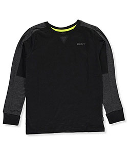 DKNY Big Boys' L/S Shirt (Sizes 8 – 20) - CookiesKids.com