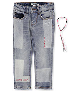 DKNY Little Girls' Toddler Skinny Jeans with Bracelet (Sizes 2T – 4T) - CookiesKids.com