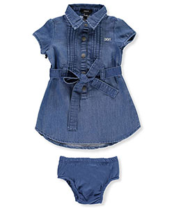 DKNY Baby Girls' Dress with Diaper Cover - CookiesKids.com