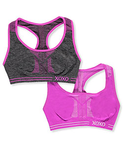 "XOXO Girls' ""XOXO Sport"" 2-Pack Sports Bras (Sizes 30"" – 36"") - CookiesKids.com"