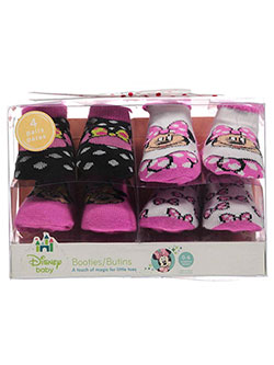 "Disney Baby Girls' ""Happy Bows"" 4-Pack Sock Booties - CookiesKids.com"