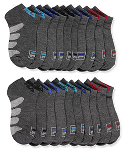 Fila Boys' 10-Pack Shock Dry Low-Cut Socks (Sizes 6 – 11) - CookiesKids.com