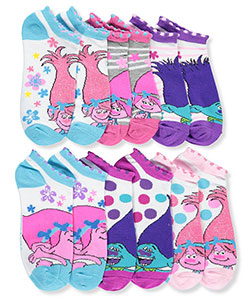 Trolls Girls' 6-Pack Ankle Socks - CookiesKids.com
