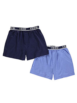 "Izod Little Boys' ""Double Solid"" 2-Pack Boxer Briefs (Sizes 4 – 7) - CookiesKids.com"