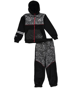 "Enyce Big Boys' ""Paisley Vibes"" 2-Piece Fleece Sweatsuit (Sizes 8 – 20) - CookiesKids.com"