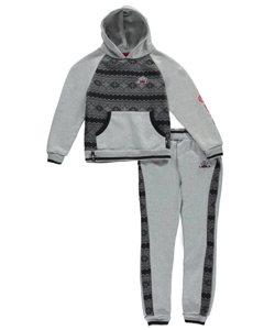 "Enyce Big Boys' ""Chevron Snowflakes"" 2-Piece Fleece Sweatsuit (Sizes 8 – 20) - CookiesKids.com"