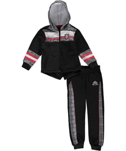 "Enyce Little Boys' Toddler ""Striped Static"" 2-Piece Fleece Sweatsuit (Sizes 2T – 4T) - CookiesKids.com"