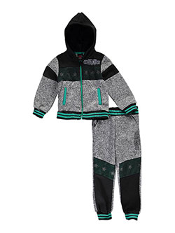 "Enyce Little Boys' Toddler ""Mesh-Paneled"" 2-Piece Fleece Sweatsuit (Sizes 2T – 4T) - CookiesKids.com"