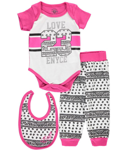 "Enyce Baby Girls' ""Paisley Prettified"" 3-Piece Layette Set - CookiesKids.com"
