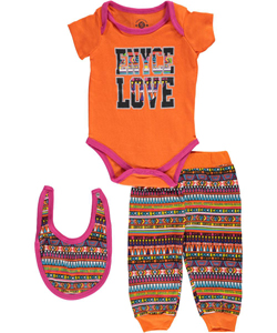 "Enyce Baby Girls' ""Triangle Print"" 3-Piece Layette Set - CookiesKids.com"