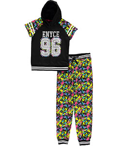 "Enyce Big Girls' ""Splatter Fleece"" 2-Piece Outfit (Sizes 7 – 16) - CookiesKids.com"