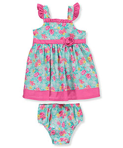 "Sweet Baby Girls' ""Ruffled Tropics"" Dress with Diaper Cover - CookiesKids.com"