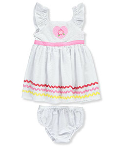 "Sweet Baby Girls' ""Textured Swirl"" Dress with Diaper Cover - CookiesKids.com"
