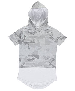 "Evolution in Design Big Boys' ""Paneled Grid"" S/S Hoodie (Sizes 8 – 20) - CookiesKids.com"