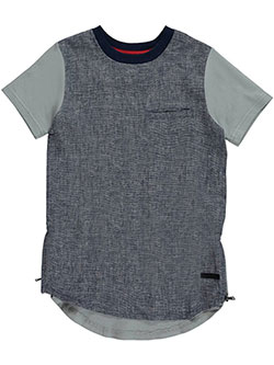 "Sean John Big Boys' ""Linen Zip"" T-Shirt (Sizes 8 – 20) - CookiesKids.com"