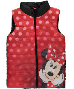 "Minnie Mouse Little Girls' ""Dreamy"" Insulated Vest (Sizes 4 – 6X) - CookiesKids.com"