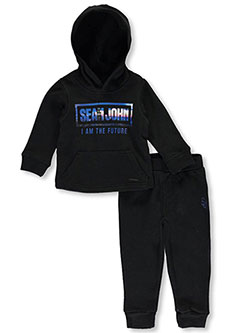 "Sean John Baby Boys' ""I Am the Future"" 2-Piece Fleece Sweatsuit - CookiesKids.com"